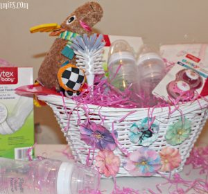 Super easy baby shower gift basket