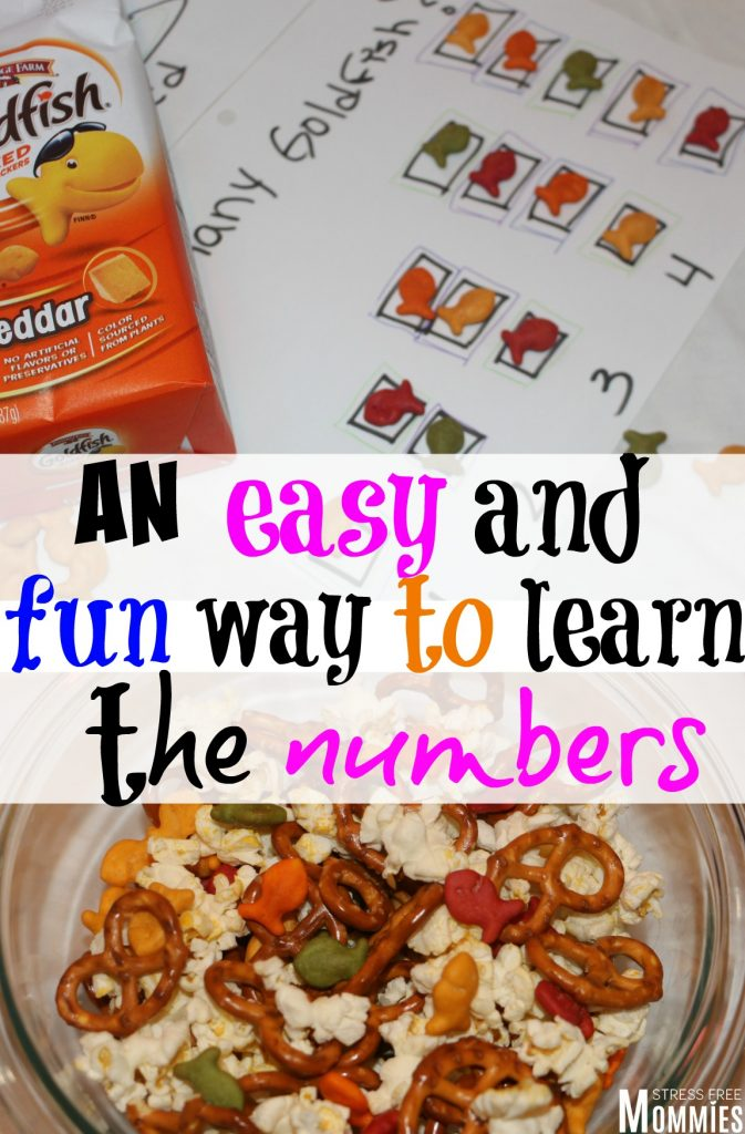An easy and fun way to learn the numbers- Are you looking for a more effective and fun way your child can learn the numbers? this easy learning activity will help you do just that and I gurantee your child will have fun learning using Goldfish. Cherish the everyday moments by learning and bonding.Also check out the fun and easy snack mix. Pin now! #sponsored