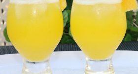 Refreshing pineapple spritzer