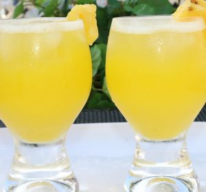 refreshing pineapple spritzer