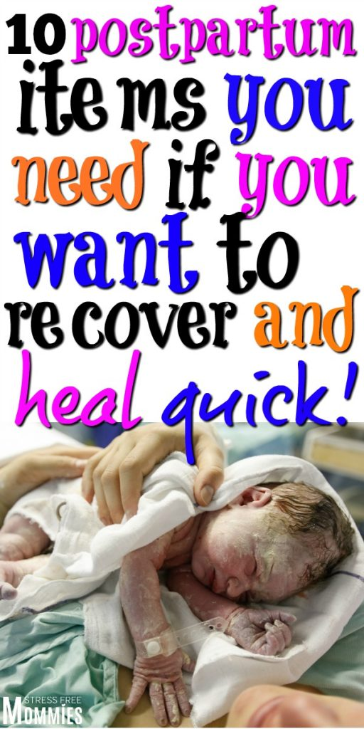 Find out the 10 postpartum items that helped me recover after birth quickly and pain free! These are the postpartum tips you need to read to heal from childbirth right now!