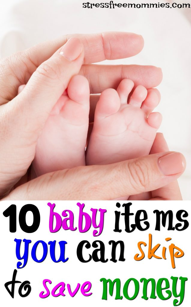 10 baby items you can skip to save your money. Find out what baby items you do not need to spend money on and can live without. A helpful list of baby items you do not need to buy because you are most likely not going to use!
