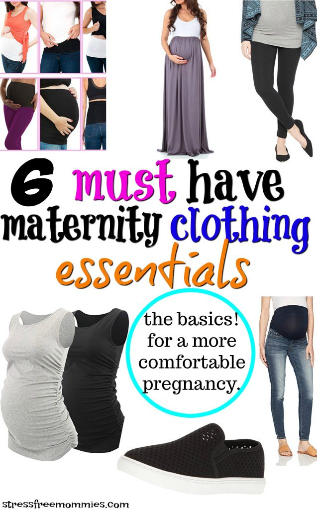 Must have maternity basic wear for a more comfortable pregnancy. Stock up on these maternity clothing basics and look and feel beautiful!