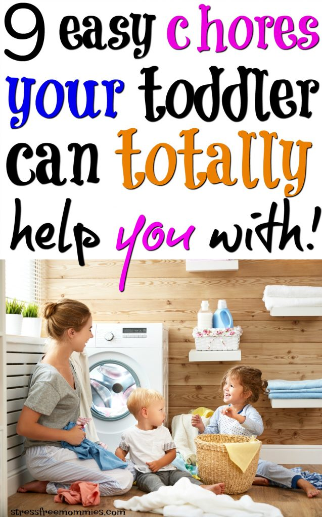 easy chores your toddler can help you with