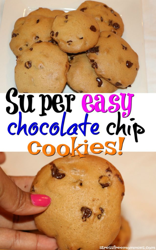 super easy and addicting chocolate chips cookies
