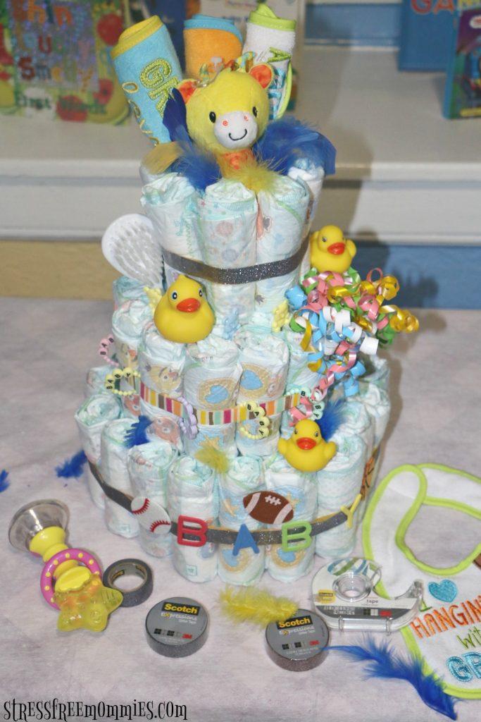 how tom make your own diaper cake