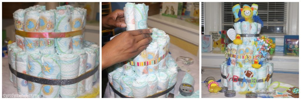how to make your own diaper cake