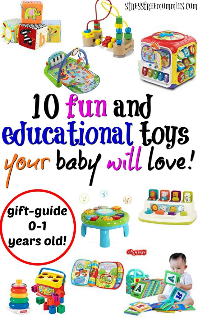 Awesome gift guide on what to get your baby for Chrismas or birthdays. Fun and educational gifts your baby will love!
