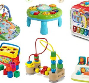 A fun gift guide on educational toys for your baby you can gift them for Christmas or birthdays. They are going to learn, interact and have fun!
