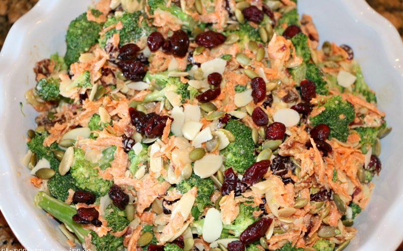Easy broccoli and carrot salad