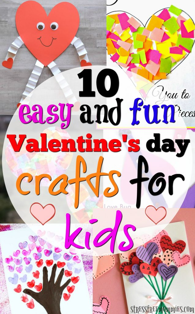 10 easy and fun valentine 39 s day crafts for kids for Inspirational valentine crafts