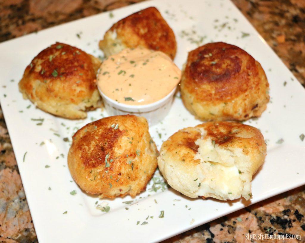 easy cheese stuffed potato balls