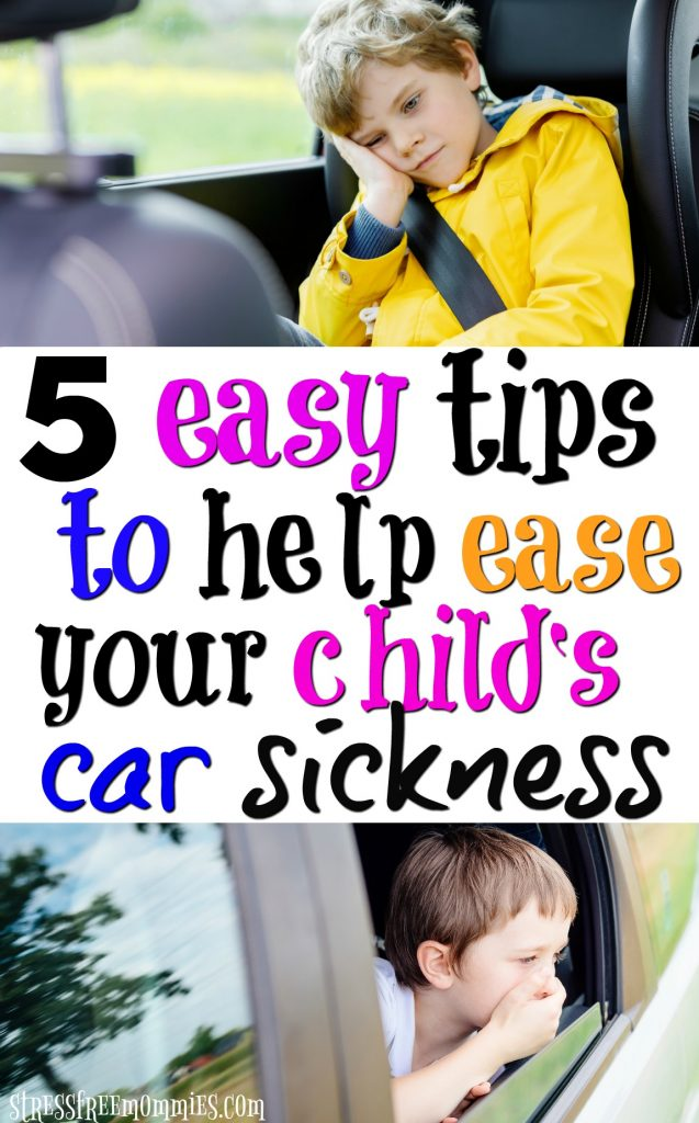 Does your child gets car sick? Then you must read these practical and effective tips on easing car sickness. It works!