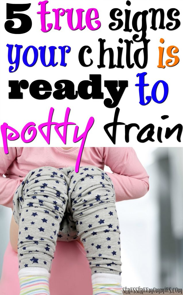 You're ready to start potty training your child. But is your child ready? Find out now, with these 5 true signs to know if your child is ready to potty train. You do not want to miss!