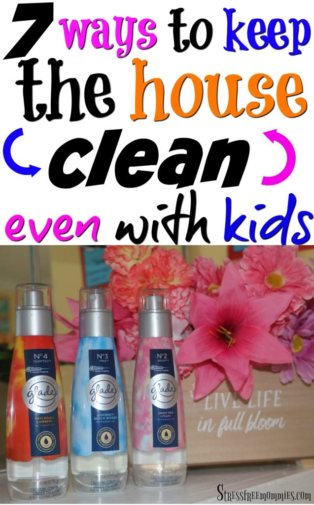 Do you think it's impossible to have a clean, clutter free home with kids? I've got news for you, you certainly can, it just takes a few tricks and tips to achieve that. Here are 7 easy ways to keep your house clean even with kids, it's worth reading! #GladeFineFragranceMist #ad