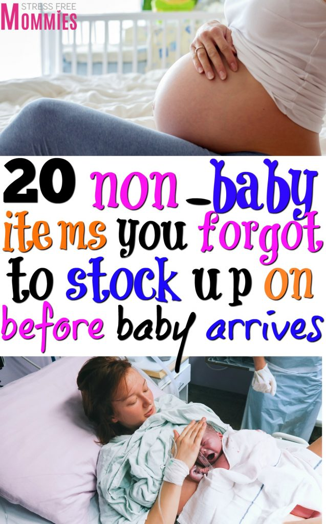 The 20 non-baby items you forgot to stock up on before baby