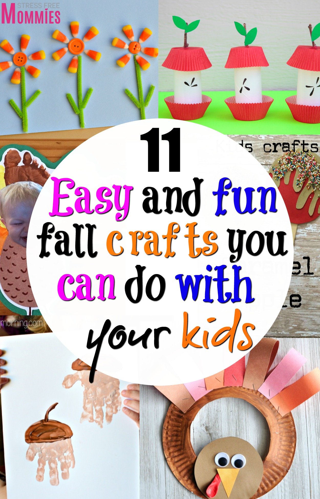 11 easy and fun fall crafts you can do with your kids- Get excited with these super cute fall crafts that are easy enough to make with your kids! #fallcrafts #kidfriendly #crafts