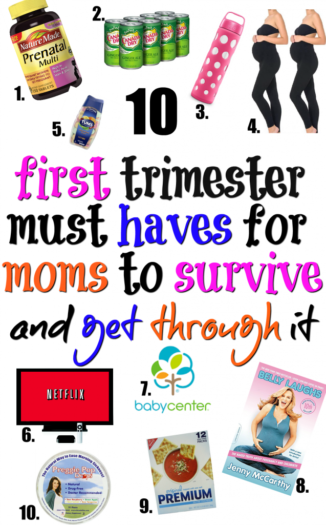 First trimester must haves! Check out the essentials you need to survive and deal with the first trimester of pregnancy more gracefully.