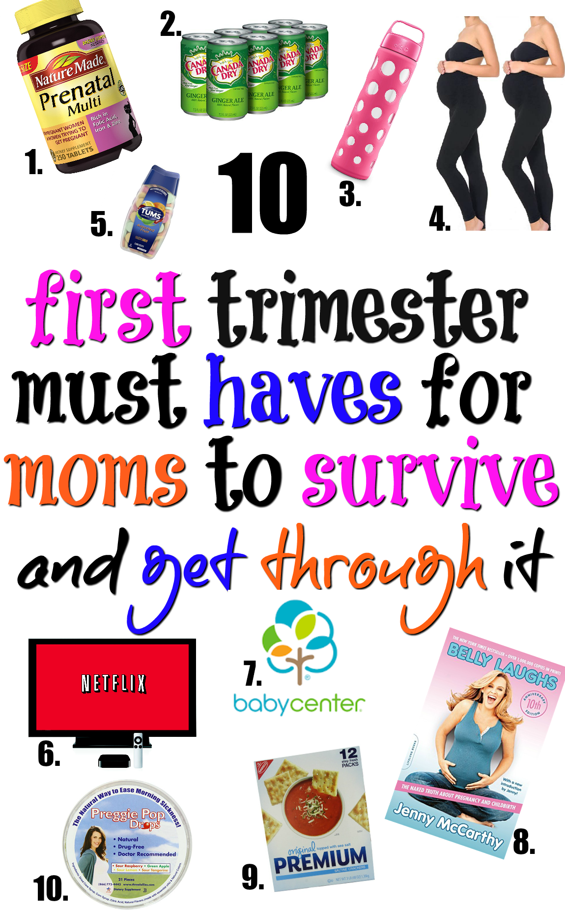 Congratulations on your pregnancy! I know that the first trimester of pregnancy can be hard. Here\'s a list of first trimester must haves and essentials you need to survive and deal with it more gracefully. It\'s the ultimate list for pregnant women!