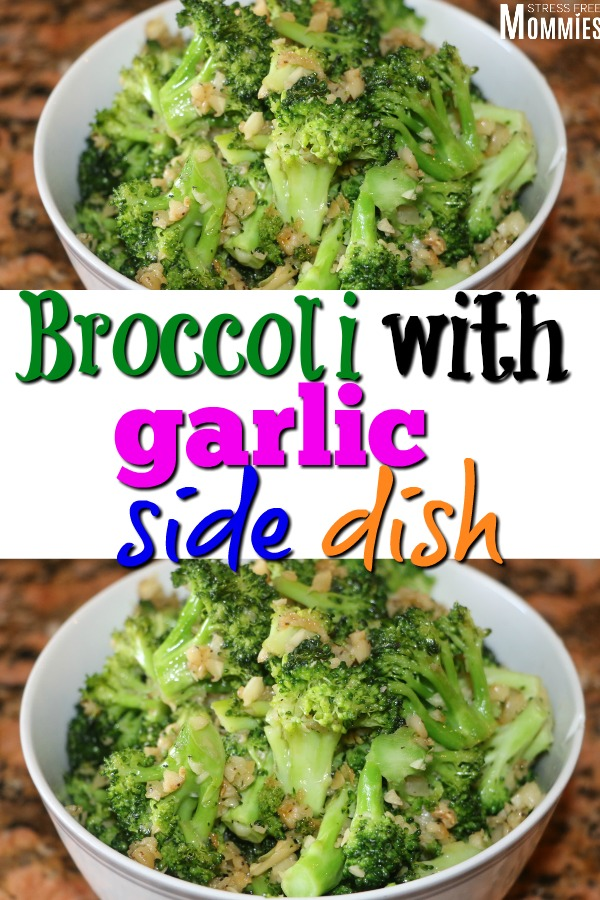 The perfect side dish to any meal. Broccoli with garlic will make you love eating vegetables! Try this easy side dish of broccoli with garlic today!