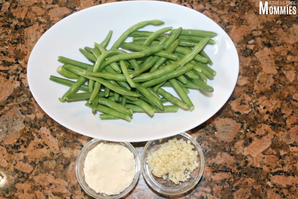 green beans in garlic and parmesan cheese