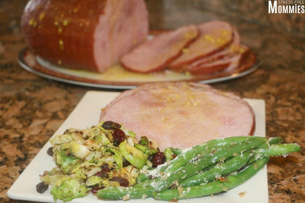 hatfield ham with vegetarian side dishes
