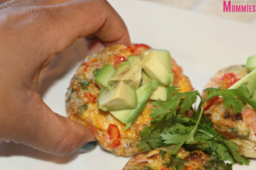 easy vegetarian cheesy egg muffins