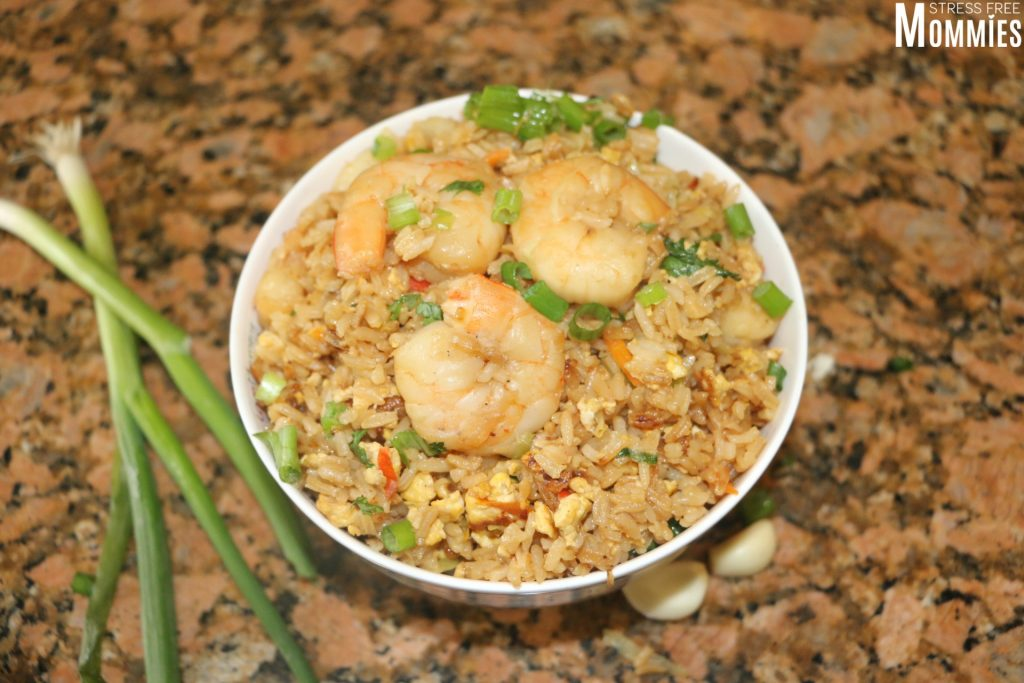 Better than takeout fried rice with shrimp and vegetables