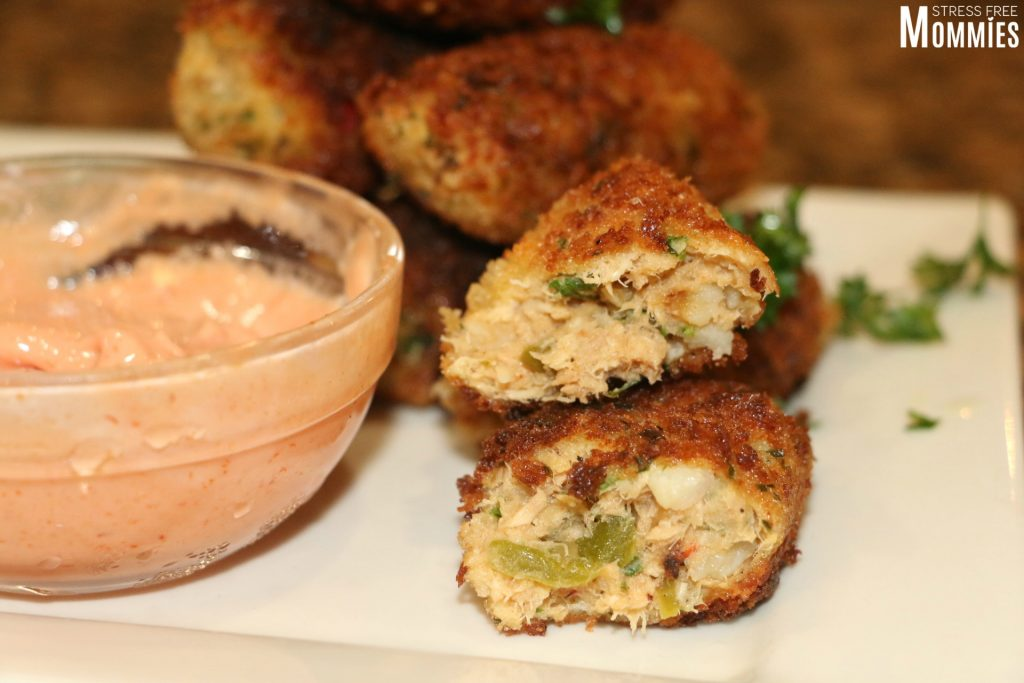 Croquettes tuna from the can