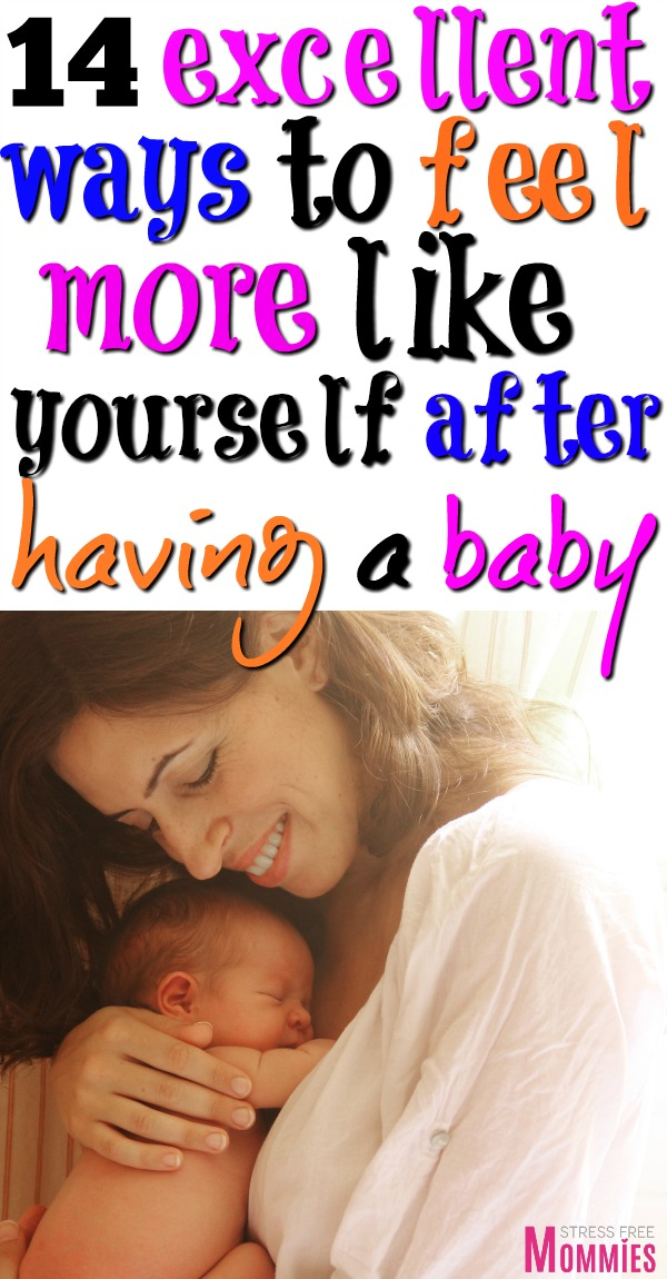 Going through the postpartum identity crisis? Here's an amazing list of ways you can feel more like yourself after having a baby. Tips and tricks for moms! #motherhood #newmomtips #postpartum #baby