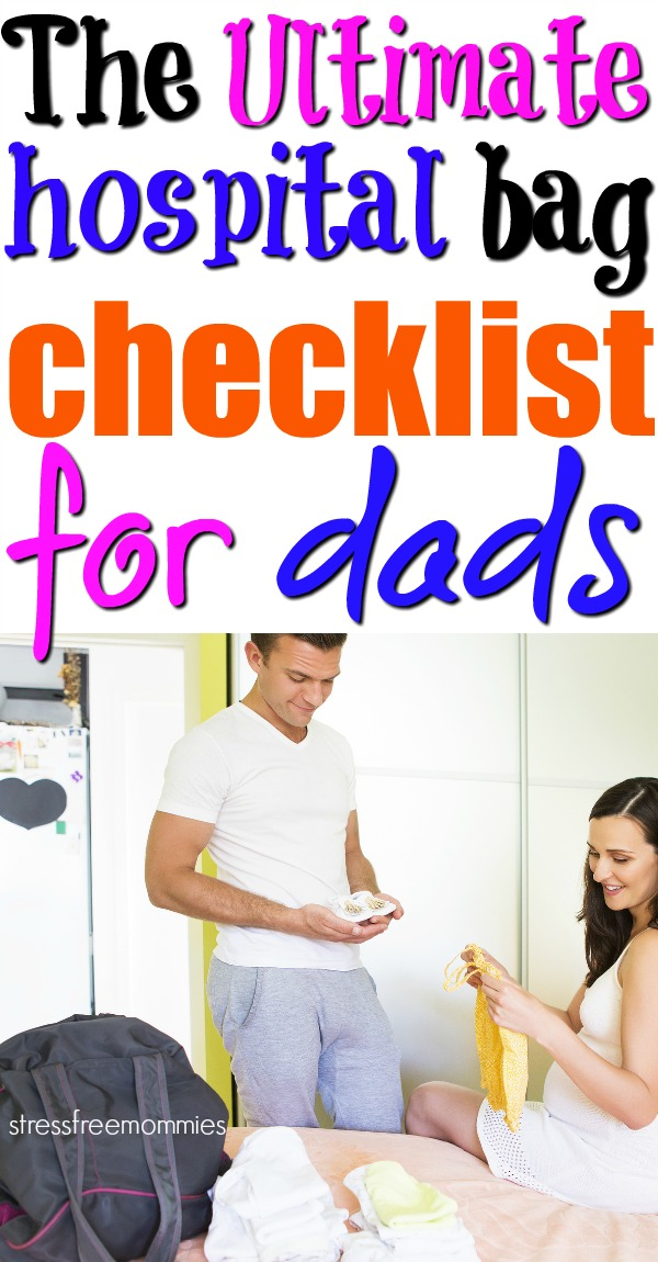 Here\'s the ultimate hospital bag checklist for dads. Dads to be also need to be prepared when staying in the hospital. Get the hospital survival kit for dad! #hospitalbag #hospitalbagfordad #hospitalbagchecklist #hospitalsurvivalkitfordads