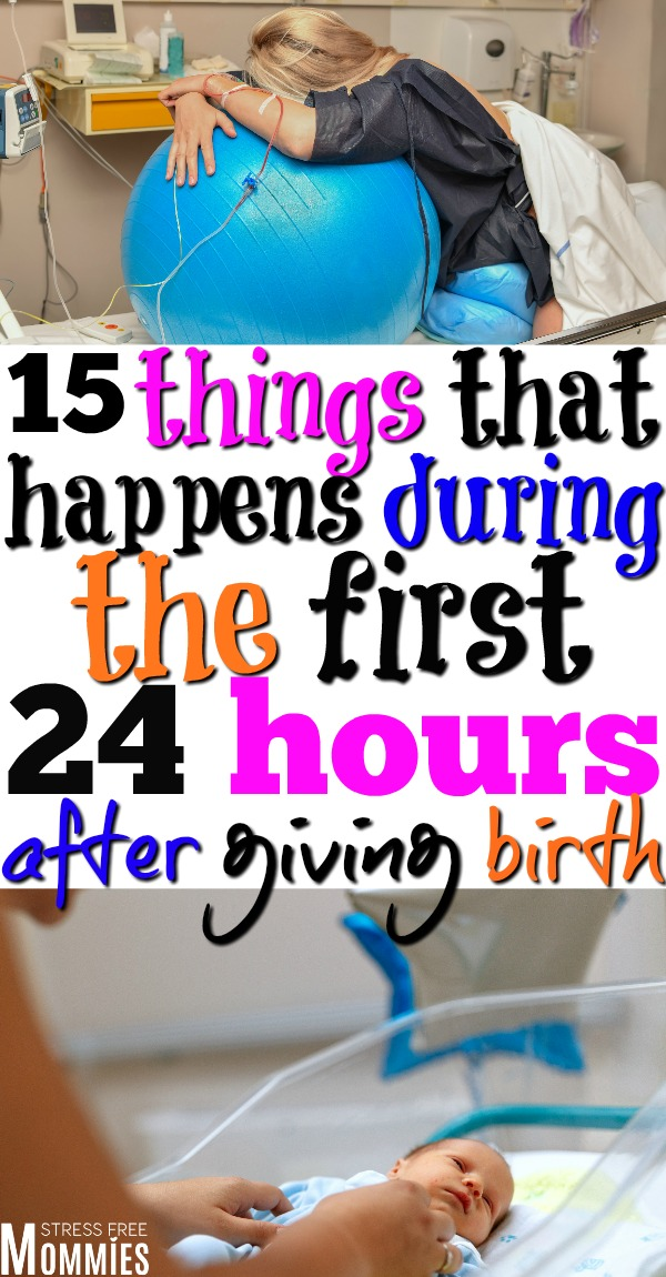 Learn about everything that happens the first 24 hours after giving birth. What happens to your postpartum body, baby immediate care and more! This is what truly happens during the postpartum period. Must read!