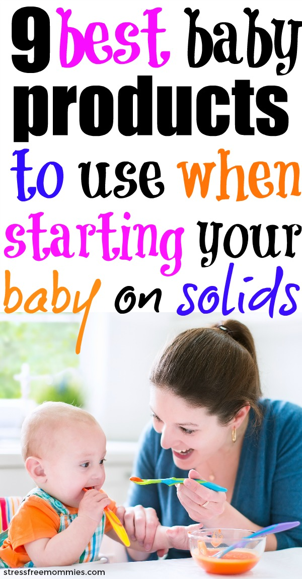 Starting baby on solids? Here\'s what products to buy and use when introducing baby to solids. These are the feeding essentials you need for baby feeding time.
