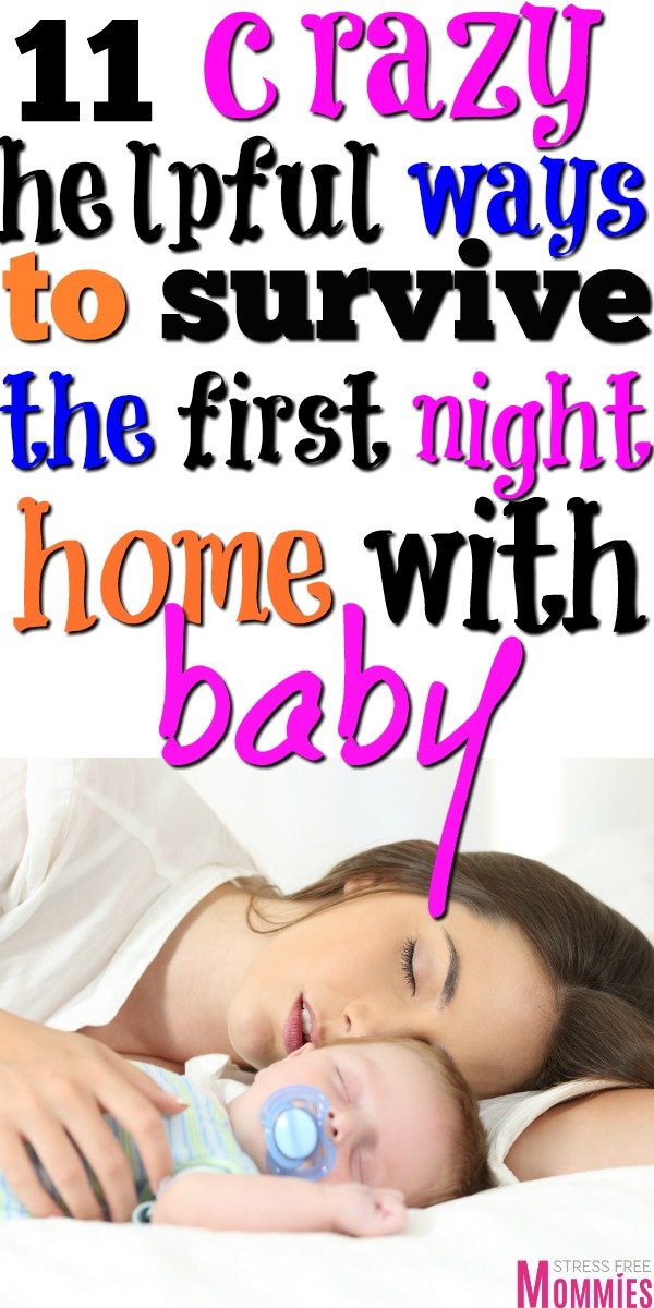 Bringing home baby from the hospital? These are the 11 ways on how to survive the first night home with newborn. Tips for the first few nights with baby home! Bringing baby home from the hospital tips.