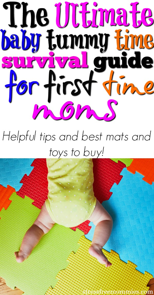 Helpful baby tummy time tips for new moms. This is the ultimate survival guide of tummy time with helpful tips and best baby tummy time products to buy! First time mom tips on how to do tummy time and how to help your baby love it!