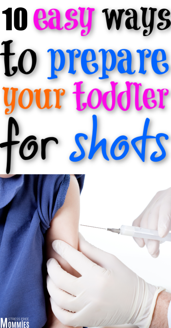 Prepare your toddler for shots. Learn the tricks to teach your child how to be calm while getting a shot. Parenting tips to survive shots with children. #toddler #parenting #parentingtoddlers