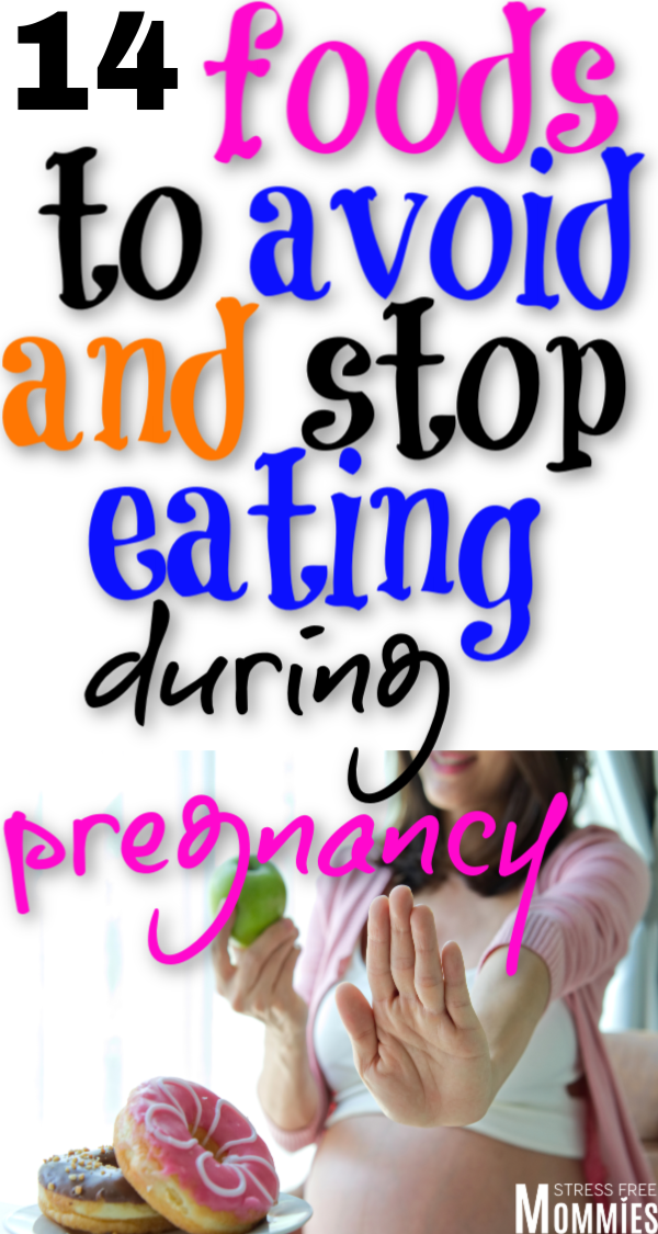 Here\'s a helpful list of foods to avoid during pregnancy. What type of foods you should not be eating now that you\'re pregnant. Full list of foods to avoid! Pregnancy food guide!
