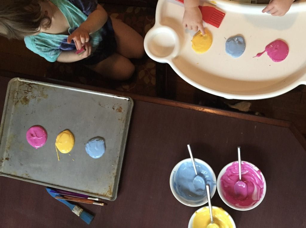 edible painting activity